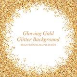Glühende Goldfunkeln-Vektorillustration stock abbildung