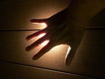 Glühende Hand Lizenzfreie Stockbilder