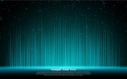 Glühende helle Linien Linearer Effekt des Glühens Blaues Neonlicht vektor abbildung