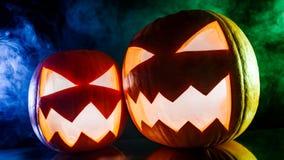 Glühende Kürbise für Halloween Lizenzfreie Stockbilder