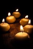 Glühende Kerzen Stockbild