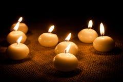 Glühende Kerzen Lizenzfreie Stockbilder