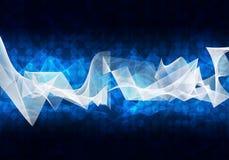 Glühende Kreise und Wellen Hightech- Hintergrund Stockfoto