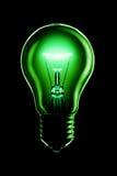 Glühende Lampe auf Schwarzem Stockfoto