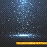 Glühende Lichteffekte des Funkelns lokalisierten realistisches Lizenzfreies Stockbild