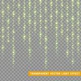 Glühende Lichteffekte des Funkelns lokalisierten realistisches Weihnachtsdekorationsgestaltungselement Sonnenlichtblendenfleck Stockbild