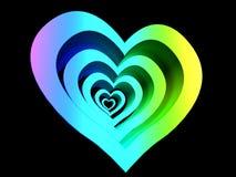 Glühende Linien Herz Lizenzfreies Stockbild
