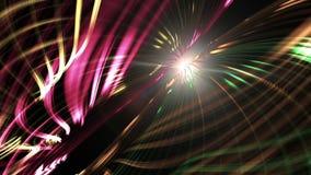 Glühende mehrfarbige Linien der Bewegung Getrennt auf weißem Hintergrund stock video