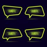 Glühende Neonspracheblasenikone für Text zitieren stock abbildung