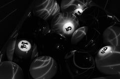 Glühende Pool-Kugeln Lizenzfreies Stockfoto