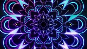 Glühende purpurrote Mandala endlose vj Schleife lizenzfreie abbildung
