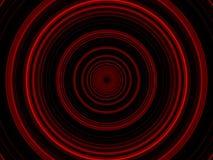 Glühende rote Kreise Stockfotografie