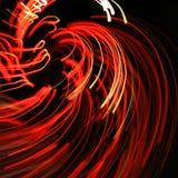 Glühende rote Zeilen Stockfotos
