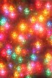 Glühende Schneemänner des Weihnachtsbaums Stockfotos