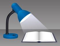 Glühende Schreibtisch-Lampe Stockfoto