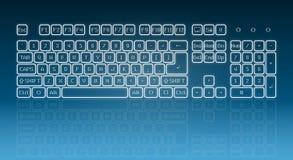 Glühende Screentastatur
