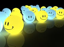 Glühende smiley stock abbildung