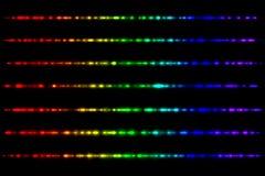 Glühende Spektrumstrahlen Lizenzfreies Stockbild