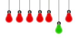Glühende spezielle Glühlampen Stockfotografie