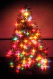 Glühende Sterne des Weihnachtsbaums Stockbild