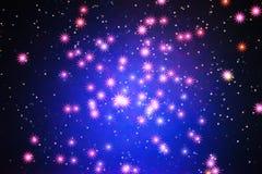 Glühende Sterne im Raumgalaxie-Illustrationshintergrund Lizenzfreie Stockbilder