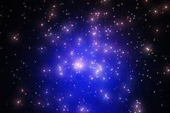 Glühende Sterne im Raumgalaxie-Illustrationshintergrund Lizenzfreies Stockfoto