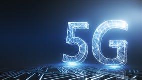 Glühende Tapete 5G vektor abbildung