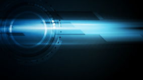 Glühende Videoanimation der dunkelblauen Technologie