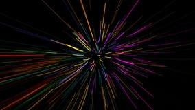 Glühende wellenförmige Zeilen Stockfotos