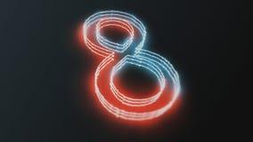 Glühende Zahlen des Neons Lizenzfreies Stockbild