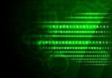Glühende Zahlen und Kreise Hightech- Hintergrund Lizenzfreie Stockfotografie