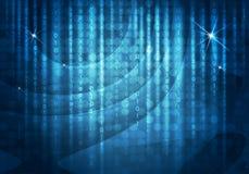 Glühende Zahlen und Kreise Hightech- Hintergrund Stockbilder