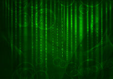 Glühende Zahlen und Kreise Hightech- Hintergrund Lizenzfreies Stockbild