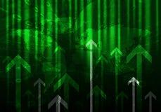 Glühende Zahlen und Pfeile Hightech- Hintergrund Lizenzfreie Stockfotografie