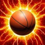 Glühender Basketball Lizenzfreies Stockfoto