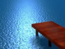 Glühender blauer Teich Lizenzfreies Stockbild