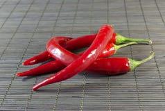 Glühender Chili Peppers Lizenzfreies Stockbild