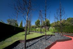 Glühender Garten Lizenzfreies Stockfoto