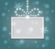Glühender glänzender Weihnachtshintergrund. Stockbilder