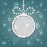 Glühender glänzender Weihnachtshintergrund mit Ball. Lizenzfreies Stockbild