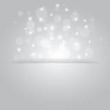 Glühender glänzender Weihnachtshintergrund mit Schneeflocken Lizenzfreie Stockfotografie