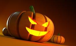 Glühender Halloween-Kürbis Lizenzfreies Stockbild