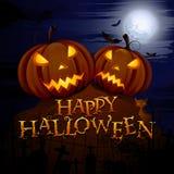 Glühender Halloween-Kürbis Stockfotografie
