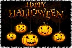 Glühender Halloween-Kürbis Stockfoto