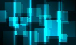 Glühender Hintergrund des Quadrats 3D vektor abbildung