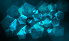 Glühender Hintergrund Pentagons 3D vektor abbildung