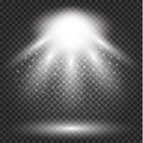Glühender Lichteffekt, Aufflackern, Explosion und Sterne lizenzfreie abbildung