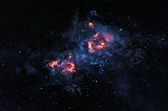 Glühender Nebelfleck Stockfoto