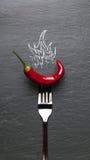 Glühender Paprika-Pfeffer Stockfoto