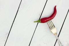 Glühender Paprika-Pfeffer Landhausstil Lizenzfreies Stockbild